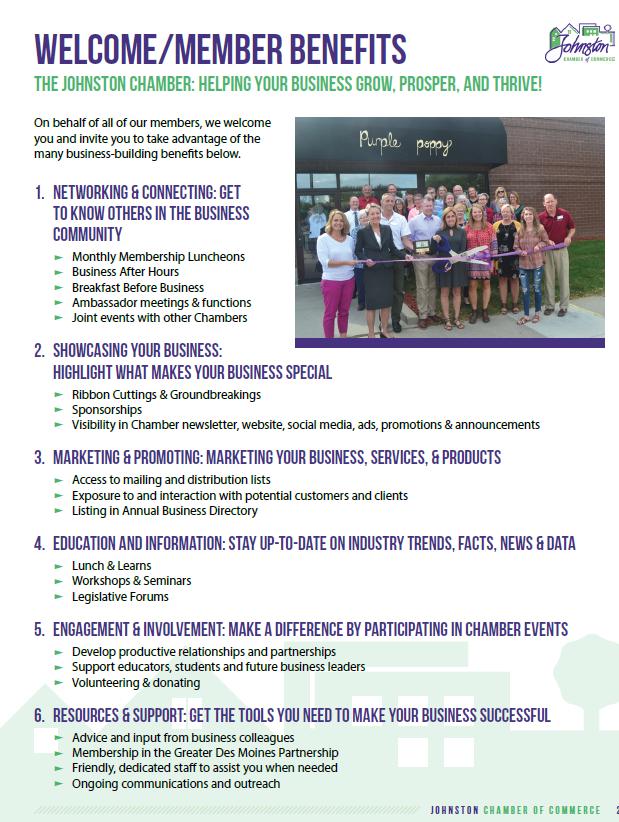 Member Benefits – Johnston Chamber of Commerce